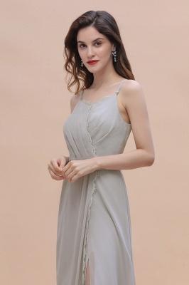Grau Brautjungfernkleider Lang | Chiffon Kleider Für Brautjungfern_10