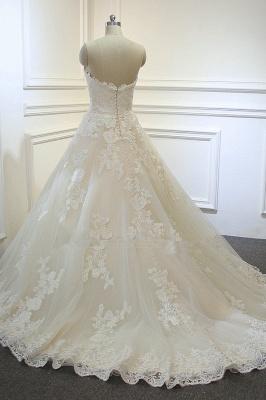 Hochzeitskleider für Schwangere | Brautkleid A Linie Spitze_4