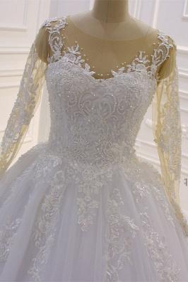 Brautkleider Prinzessin Luxus | Hochzeitskleider Lang Ärmel_3