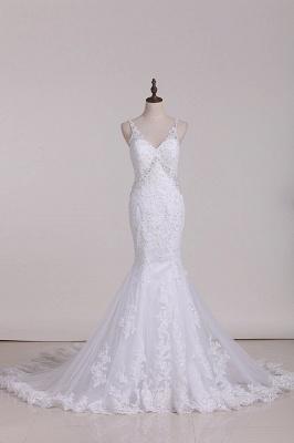Weiße Brautkleider Meerjungfrau Spitze | Hochzeitskleider Günstig_1