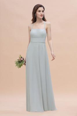 Brautjungfernkleider Lang Mint | Chiffon Kleider Günstig_4