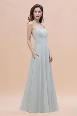 Brautjungfernkleider Lang Mint | Chiffon Kleider Günstig_7