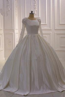 Hochzeitskleider Prinzessin Luxus | Brautkleid Lange Ärmel_3