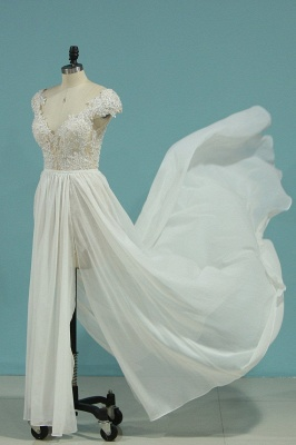 Schlichte Hochzeitskledier Günstig | Brautkleid Mit Spitze_7