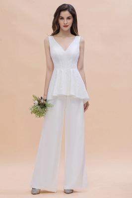 Jumpsuit Brautjungfernkleider Weiß | Kleider für Brautjungfern_6