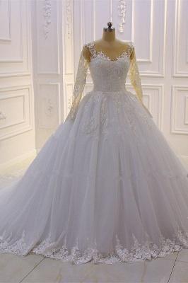 Brautkleider Prinzessin Luxus | Hochzeitskleider Lang Ärmel_4