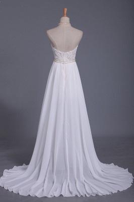 Schlichtes Hochzeitskleid Standesamt | Brautkleid A Linie Spitze_2
