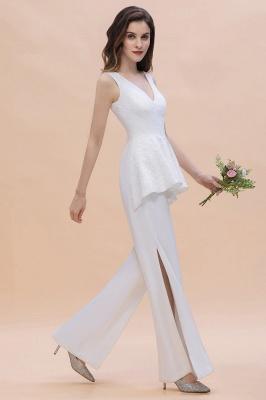 Jumpsuit Brautjungfernkleider Weiß | Kleider für Brautjungfern_5