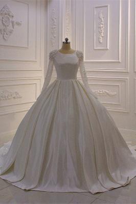 Hochzeitskleider Prinzessin Luxus | Brautkleid Lange Ärmel_2