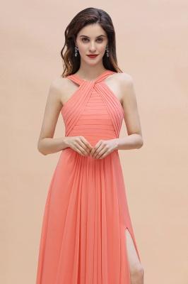 Orange Brautjungfernkleider Günstig   Chiffon Kleider Abendmoden_9