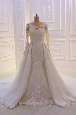 Prinzessinnen Hochzeitskleider mit Glitzer | Brautkleider Lange Ärmel_1