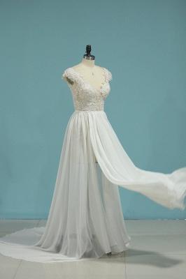 Schlichte Hochzeitskledier Günstig | Brautkleid Mit Spitze_4