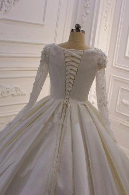 Hochzeitskleider Prinzessin Luxus | Brautkleid Lange Ärmel_6