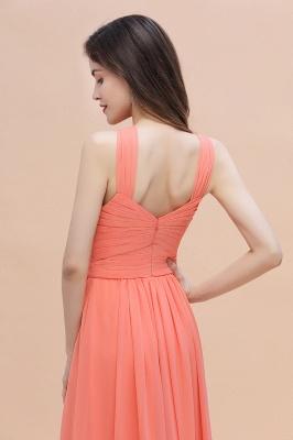 Orange Brautjungfernkleider Günstig   Chiffon Kleider Abendmoden_8