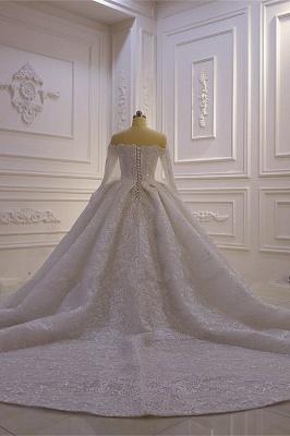 Brautkleider mit Langem Arm | Silbernes Hochzeitskleid_3