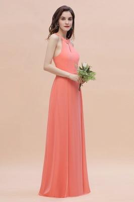 Halter Brautjungfernkleider Lang Chiffon | Hochzeitspartykleider Günstig_7
