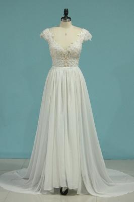 Schlichte Hochzeitskledier Günstig | Brautkleid Mit Spitze_1