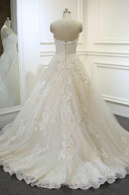 Hochzeitskleider für Schwangere | Brautkleid A Linie Spitze_3