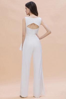 Jumpsuit Brautjungfernkleider Weiß | Kleider für Brautjungfern_3