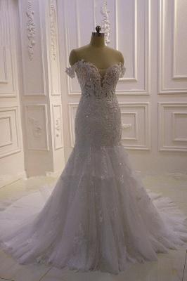 Designer Hochzeitskleid Glitzer | Brautkleid Meerjungfrau Spitze_7