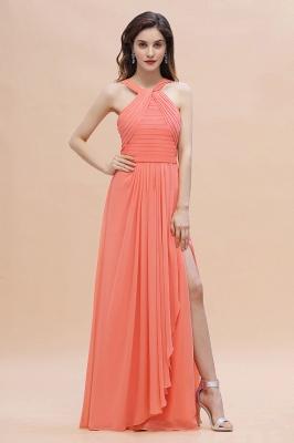 Orange Brautjungfernkleider Günstig   Chiffon Kleider Abendmoden_5