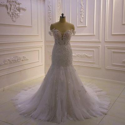 Designer Hochzeitskleid Glitzer | Brautkleid Meerjungfrau Spitze_1