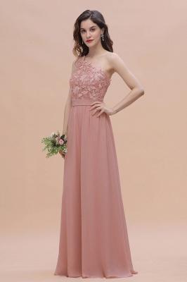 Brautjungfernkleider Lang Altrosa | Chiffon Kleider mit Spitze_5