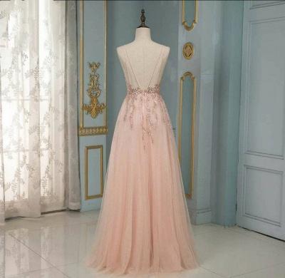 Peach Abendkleider Lang Glitzer | Abendmoden Online Kaufen_3