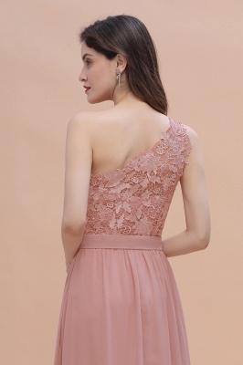 Brautjungfernkleider Lang Altrosa | Chiffon Kleider mit Spitze_10