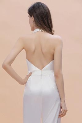 Jumpsuit Brautjungfernkleider Lang Weiß | Kleider Für Brautjungfern_9