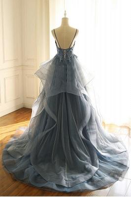 Abendkleider Lang Blau | Abiballkleider Mit Spitze Günstig_3