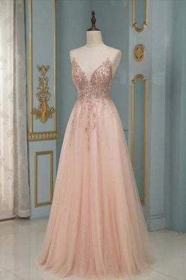 Peach Abendkleider Lang Glitzer | Abendmoden Online Kaufen_1