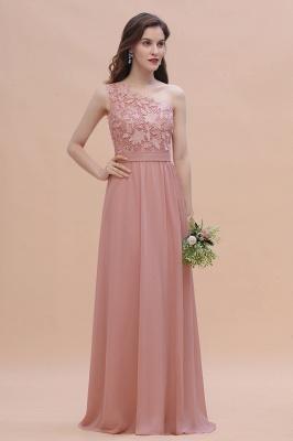 Brautjungfernkleider Lang Altrosa | Chiffon Kleider mit Spitze_6