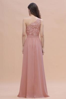 Brautjungfernkleider Lang Altrosa | Chiffon Kleider mit Spitze_3