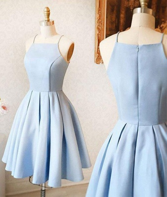 Schlichtes Abendkleid Kurz | Cocktailkleider Partykleider Blau
