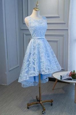 Schöne Cocktailkleider Kurz | Blaue Abendkleider Spitze