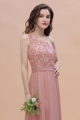 Brautjungfernkleider Lang Altrosa | Chiffon Kleider mit Spitze_7