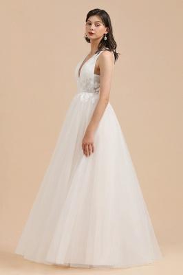 Designer Brautkleid V Ausschnitt | Hochzeitskleider A Linie_5