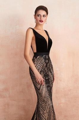 Elegante Abiballkleider Lang Schwarz | Abendkleider V Ausschnitt