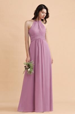 Brautjungfernkleider Lang Rosa | Chiffon Kleider Günstig_6