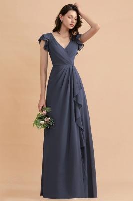 Grey Brautjungfernkleider Lang Günstig   Chiffon Kleider Online_6