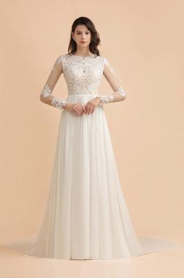 Schlichtes Brautkleid A Linie | Hochzeitskleider mit Ärmel_1