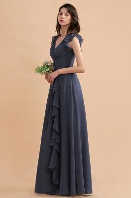 Grey Brautjungfernkleider Lang Günstig   Chiffon Kleider Online_7