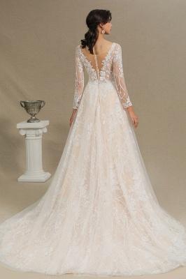 Fashion Brautkleider mit  Ärmel | A Linie Hochzeitskleid Standesamt_4