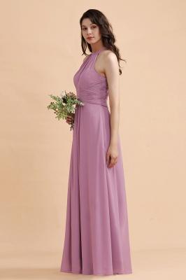 Brautjungfernkleider Lang Rosa | Chiffon Kleider Günstig_5