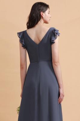 Grey Brautjungfernkleider Lang Günstig   Chiffon Kleider Online_11