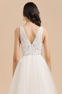 Designer Brautkleid V Ausschnitt | Hochzeitskleider A Linie_8