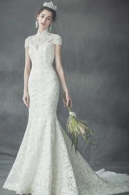 Günstige Hochzeitskleider Spitze | Hochzeitskleid Standesamt Meerjungfrau_1