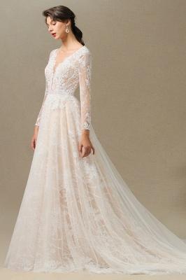 Fashion Brautkleider mit  Ärmel | A Linie Hochzeitskleid Standesamt_6