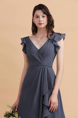 Grey Brautjungfernkleider Lang Günstig   Chiffon Kleider Online_9